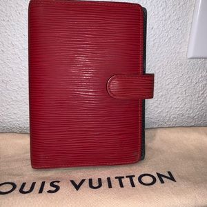 Authentic Louis Vuitton epi travel passport wallet